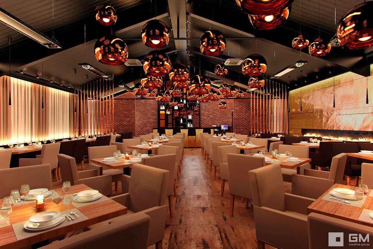 Дизайн интерьера бара, кафе - визуализация ресторана