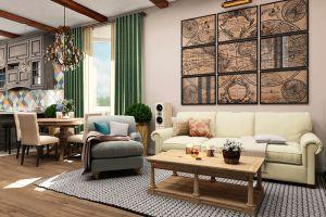 Дизайн дома в стиле Кантри с итальянскими флюидами