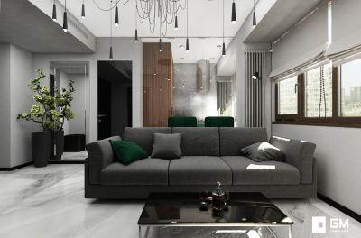 Дизайн двухкомнатной квартиры на Ленинском проспекте от GM-interior