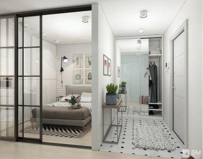 Светлый дизайн квартиры в ЖК Яуза Парк от студии дизайна GM-interior