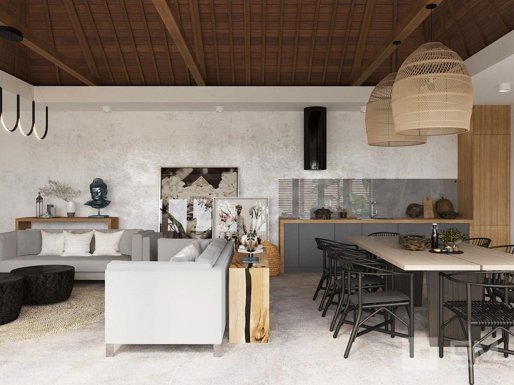 Современный интерьер виллы в торпическом стиле от студии дизайна интерьеров GM-Interior