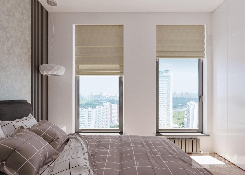 Дизайн двухкомнатной квартиры в ЖК Вандер Парк, спальня