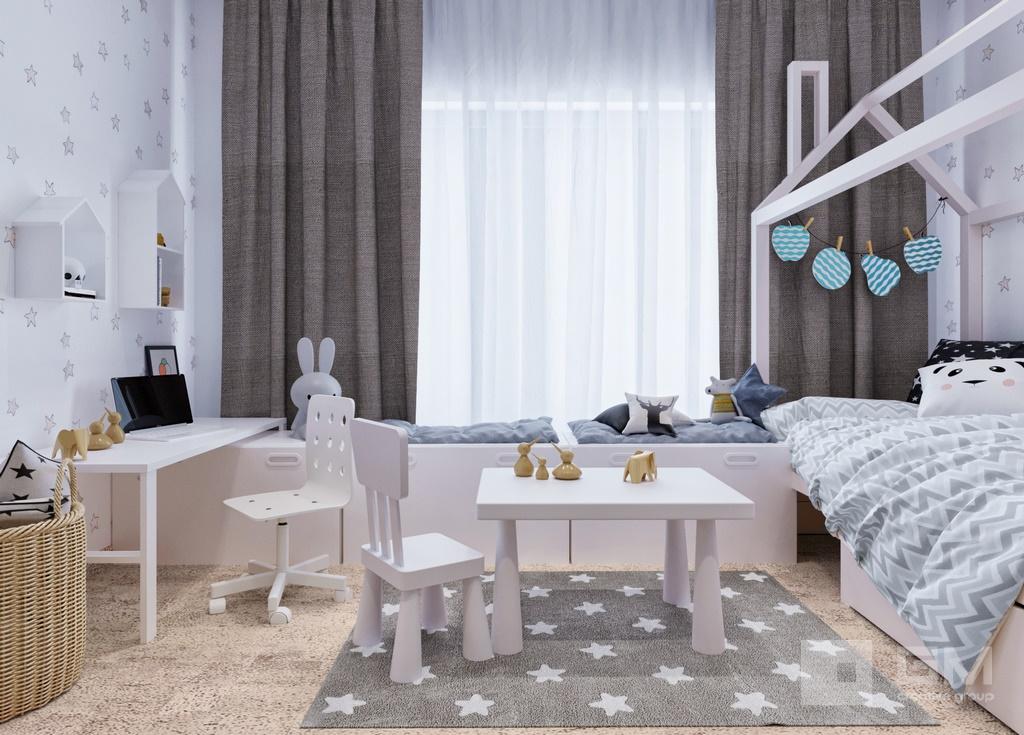 Дизайн двухкомнатной квартиры в ЖК Вандер Парк, детская