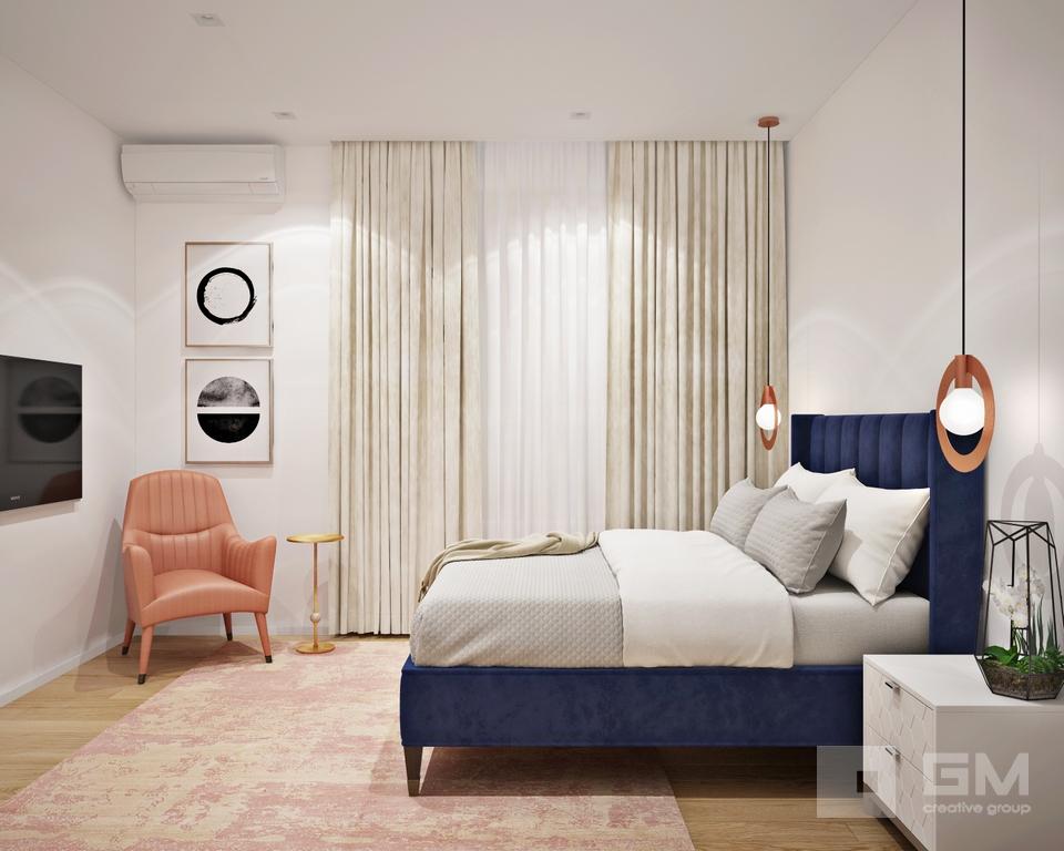 Дизайн двухкомнатной квартиры для девушки-студентки в ЖК Фили Град от студии дизайна интерьеров GM-Interior