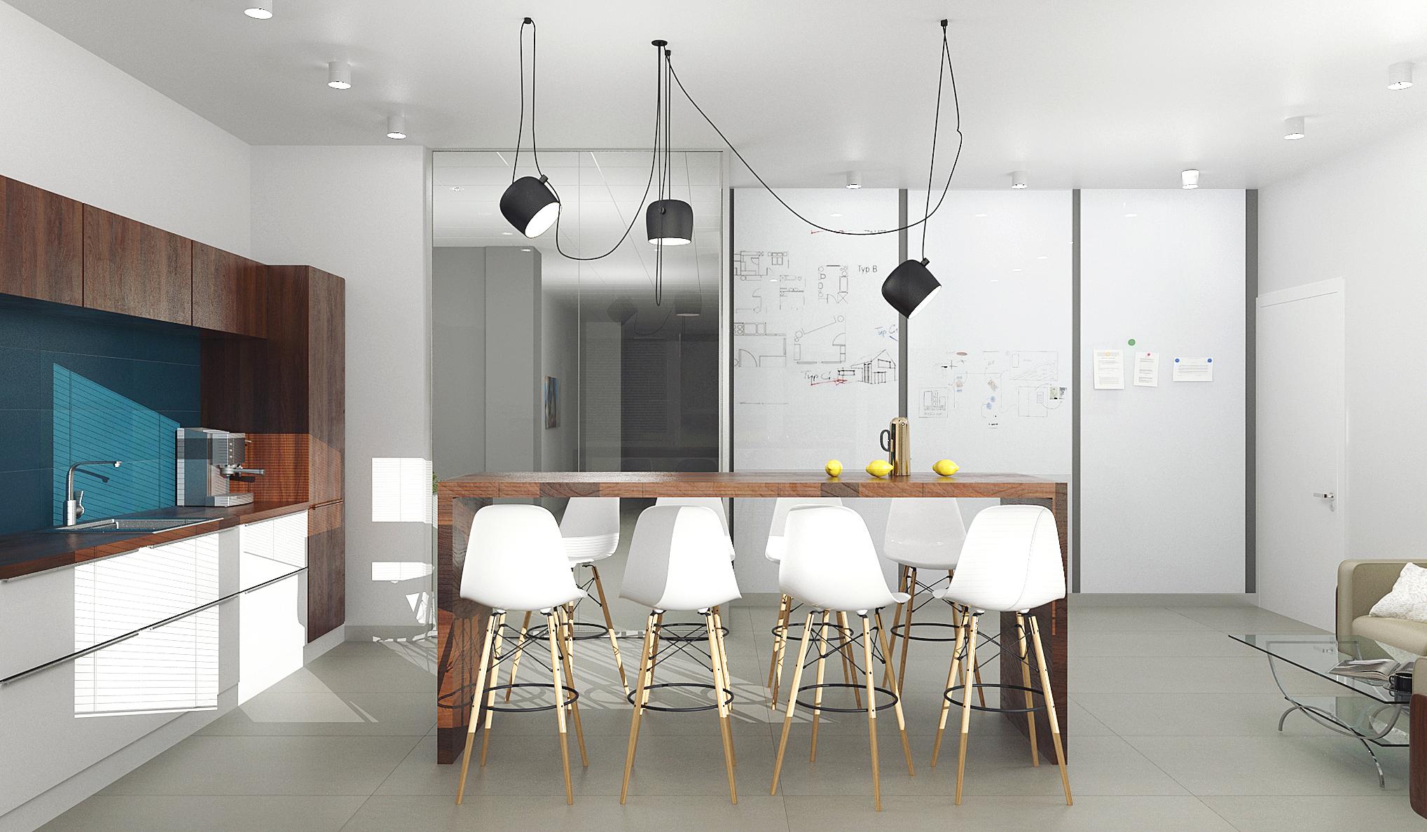 Дизайн интерьера офиса компании всемирно известной сети агентств недвижимости от студии дизайна GM-Interior