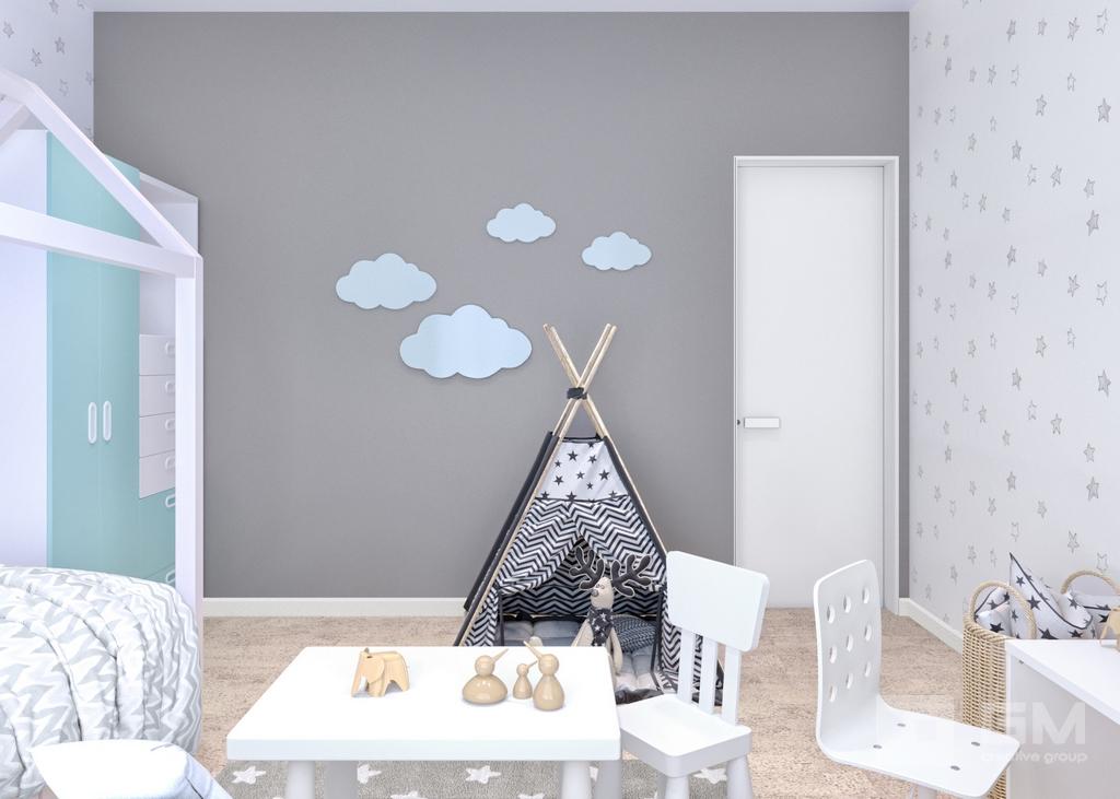 Дизайн двухкомнатной квартиры в ЖК Вандер Парк, детская комната
