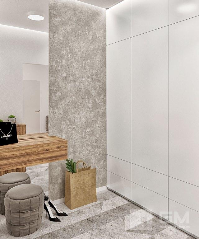 Дизайн двухкомнатной квартиры в ЖК Вандер Парк, коридор, холл