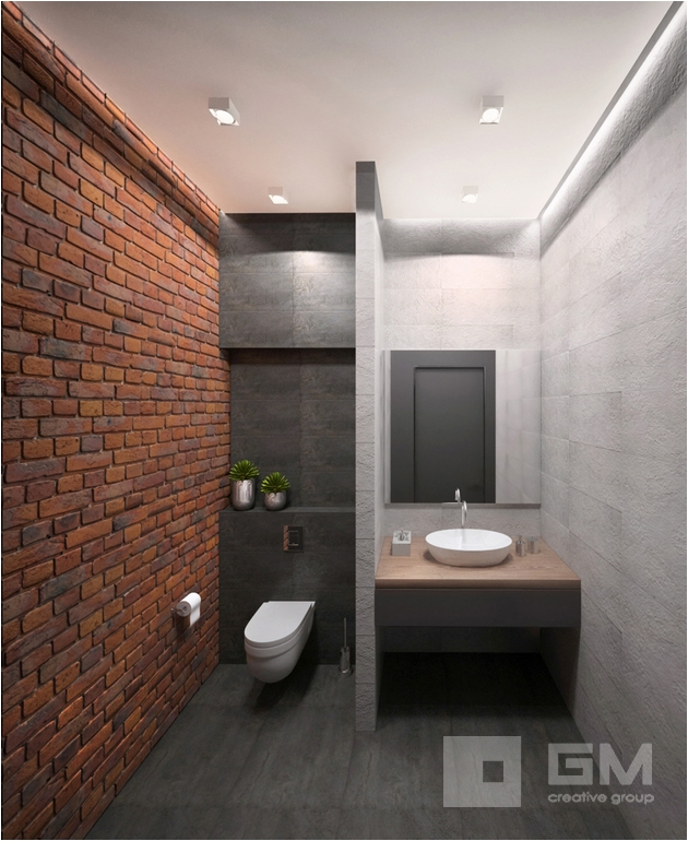 Светлый лаконичный интерьер офиса в стиле лофт от студии дизайна GM-interior