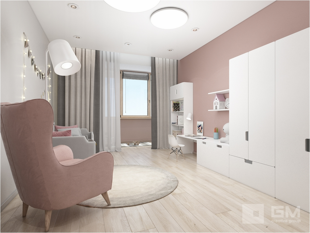 Стильный и уютный интерьер квартиры с правильной планировкой от студии дизайна GM-interior.