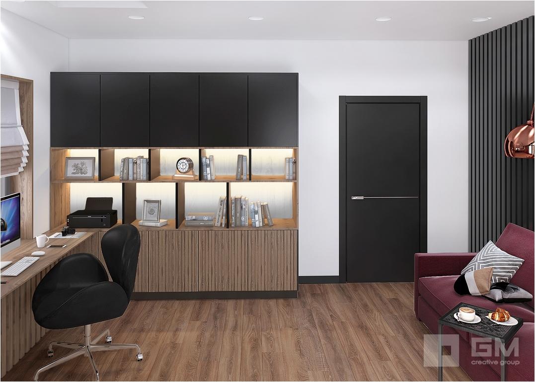 Интерьер дома с оригинальными решениями, в котором будет уютно и комфортно заказчикам. Нетривиальная организация пространства, природные фактуры и современная мебель делают интерьер ярким и выразительным. Ещё больше интерьеров на нашем сайте, заходите!