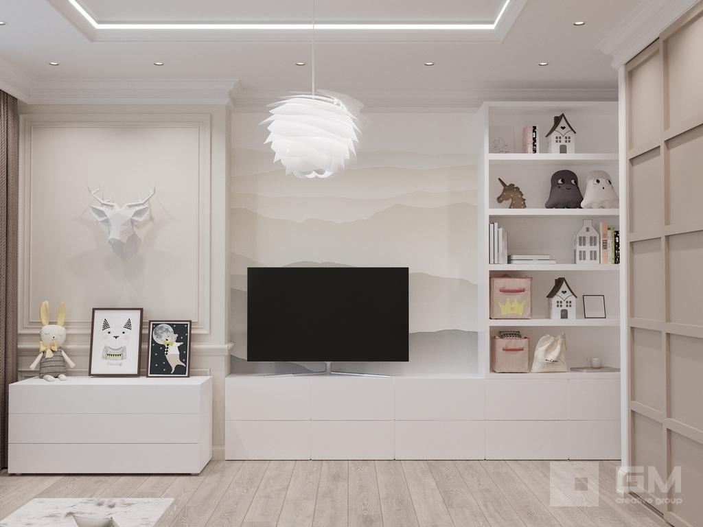 Дизайн интерьера в бежевой гамме от студии дизайна GM-INTERIOR