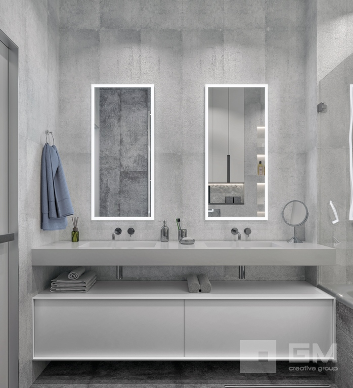 Дизайн двухкомнатной квартиры в ЖК Вандер Парк, ванная