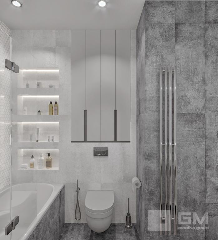 Дизайн двухкомнатной квартиры в ЖК Вандер Парк, санузел