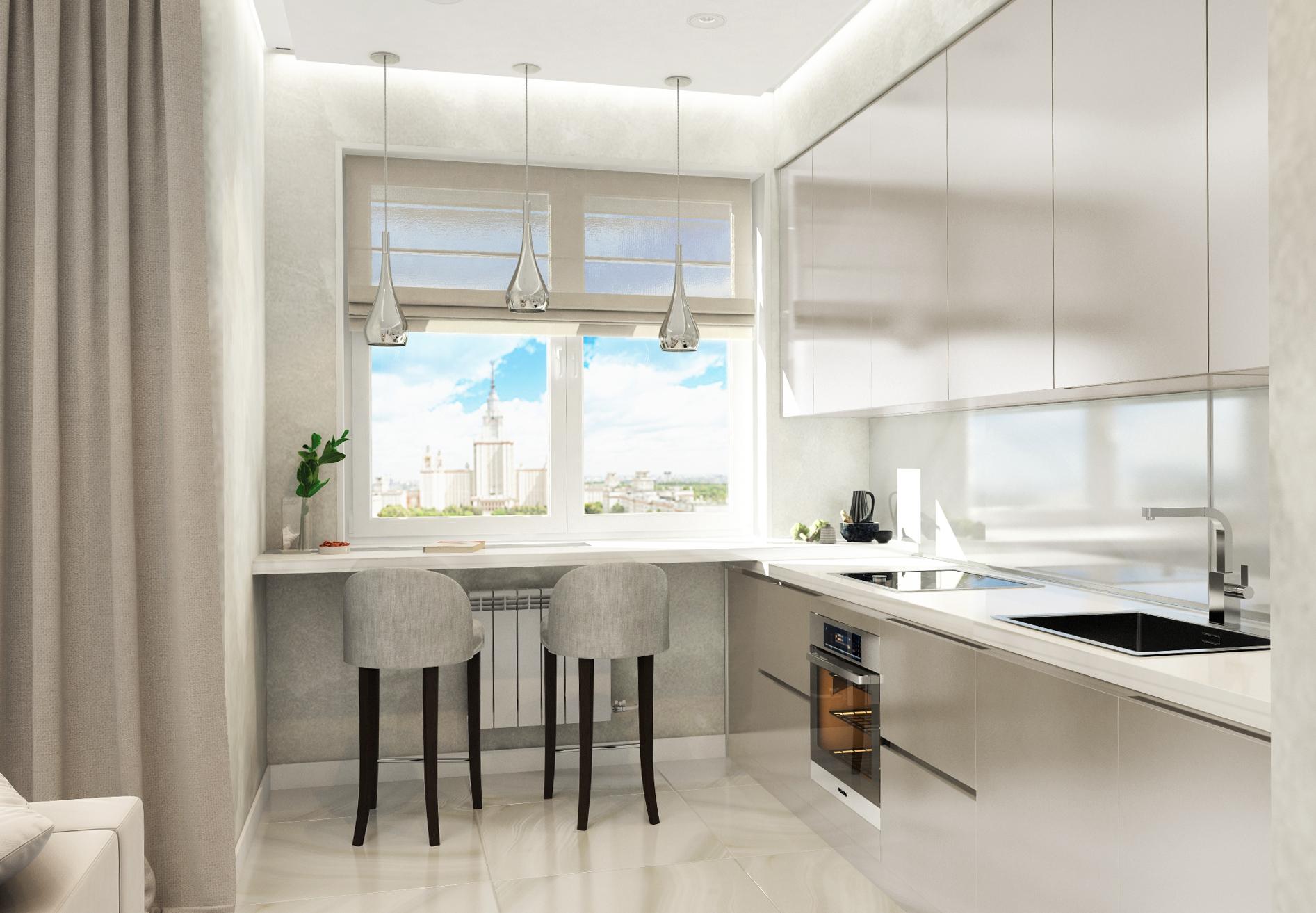 Дизайн-проект квартиры в ЖК Фортепиано с видом на МГУ от студии дизайна GM-INTERIOR