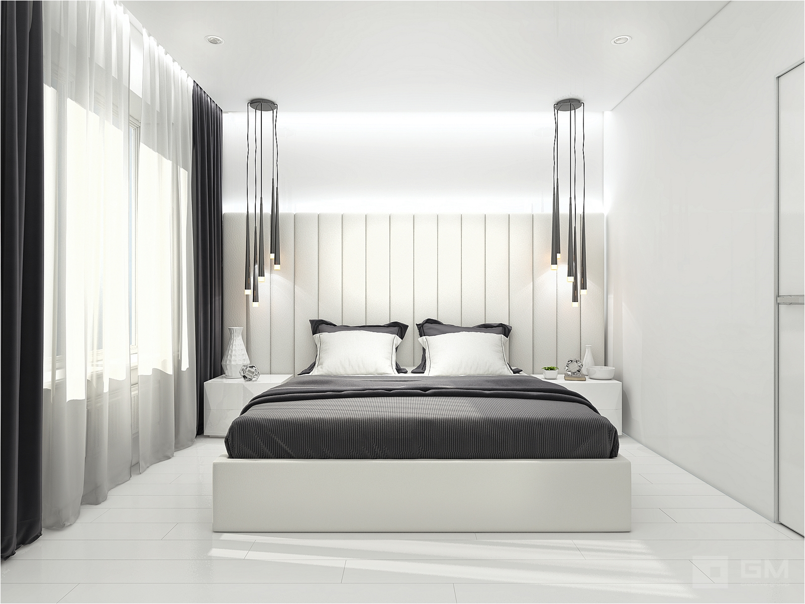 Смелый дизайн-проект 2-х комнатной квартиры для молодой пары с ребенком от студии дизайна GM-Interior