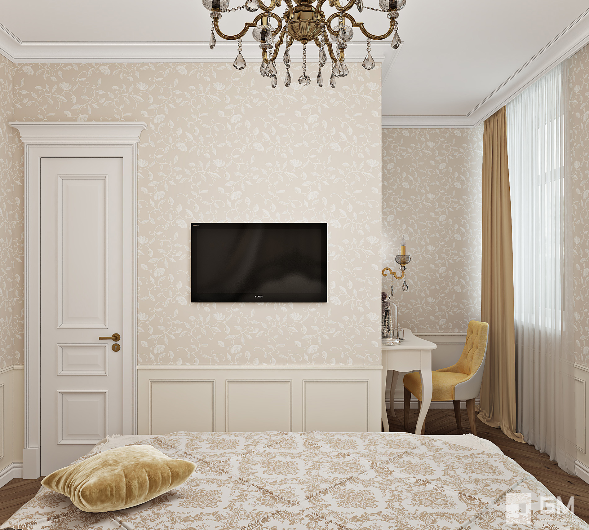 Дизайн интерьера таунхауса в классическом стиле в КП Кембридж от студии дизайна GM-Interior