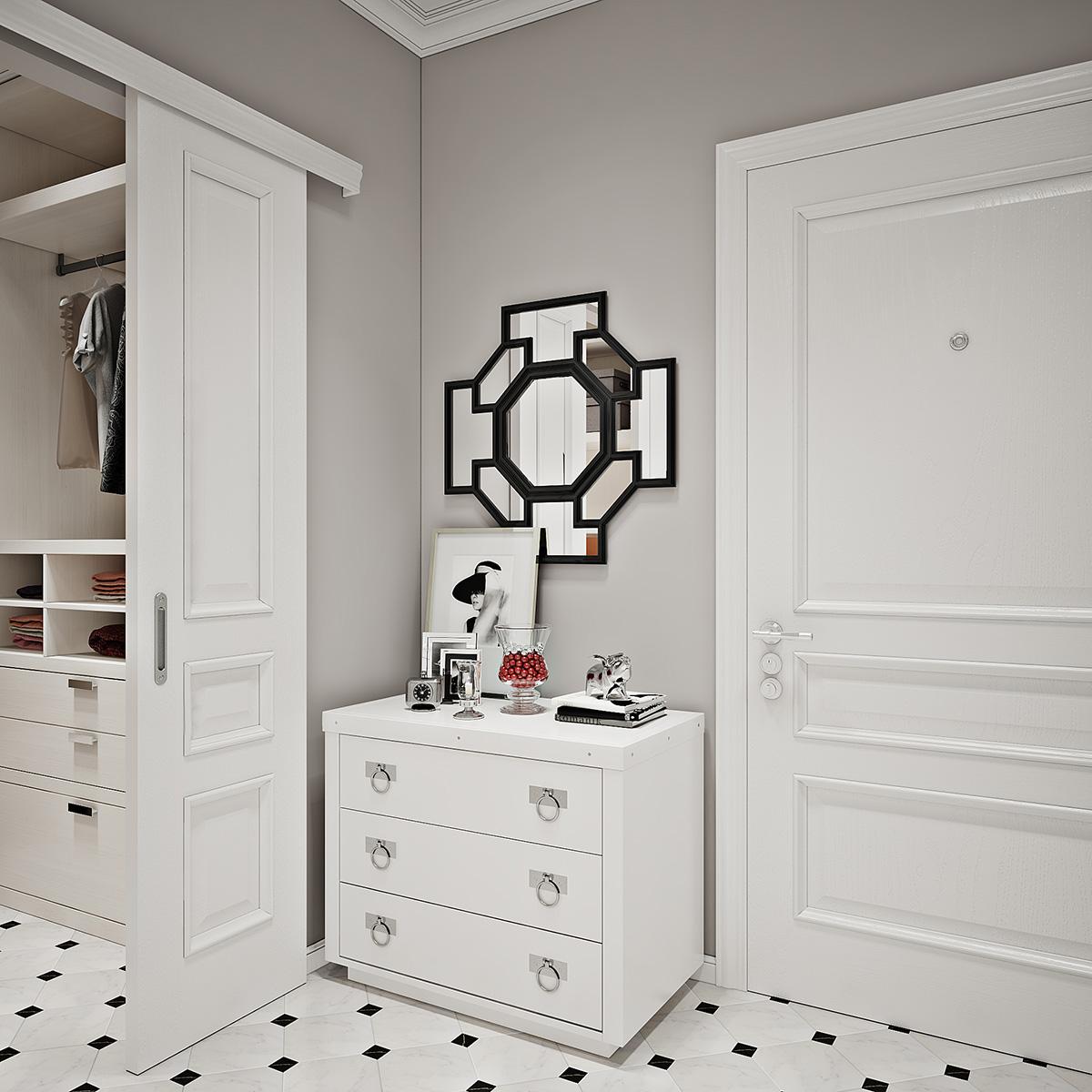 Дизайн двухкомнатной квартиры в ЖК Павловский квартал в стиле неоклассика от Студии дизайна GM-Interior