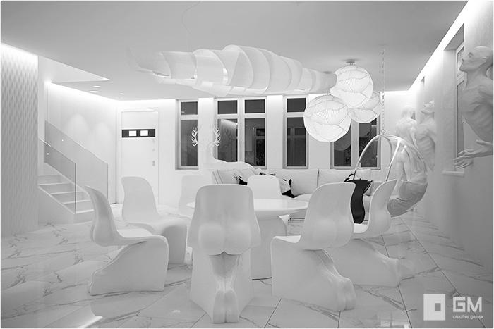 Дизайн таунхауса для Лены Лениной в КП Кембридж от студии дизайна GM-INTERIOR