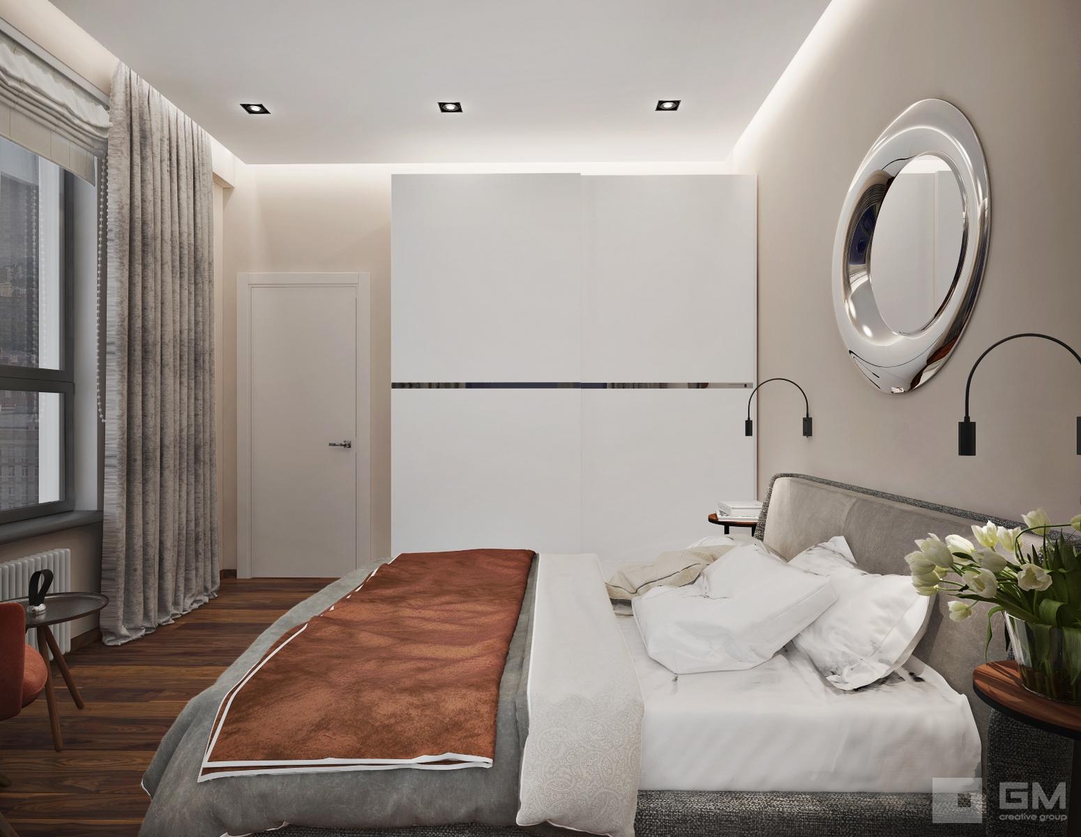 Дизайн-проект трехкомнатной квартиры в ЖК Фили Град для сдачу в аренду