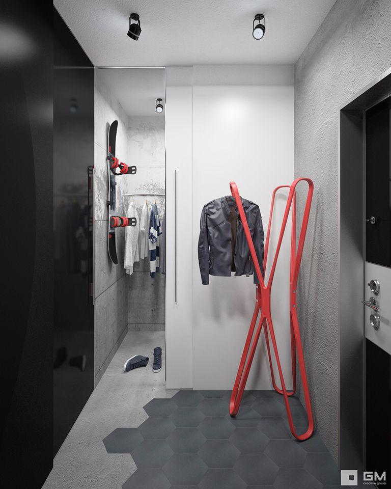 Дизайн проект однокомнатной квартиры 44 метра от студии дизайна GM-INTERIOR