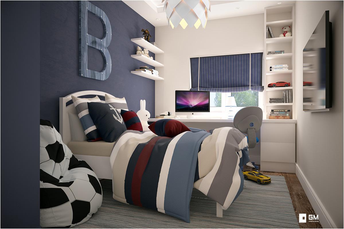 Дизайн интерьера двухуровневой квартиры в ЖК Пятницкие кварталы от студии дизайна GM-INTERIOR