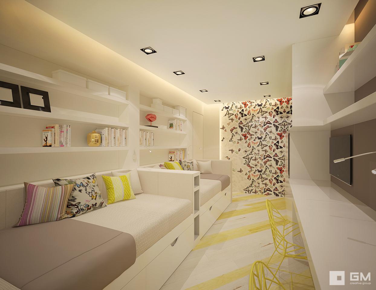Дизайн трехкомнатной квартиры от студии дизайна GM-INTERIOR