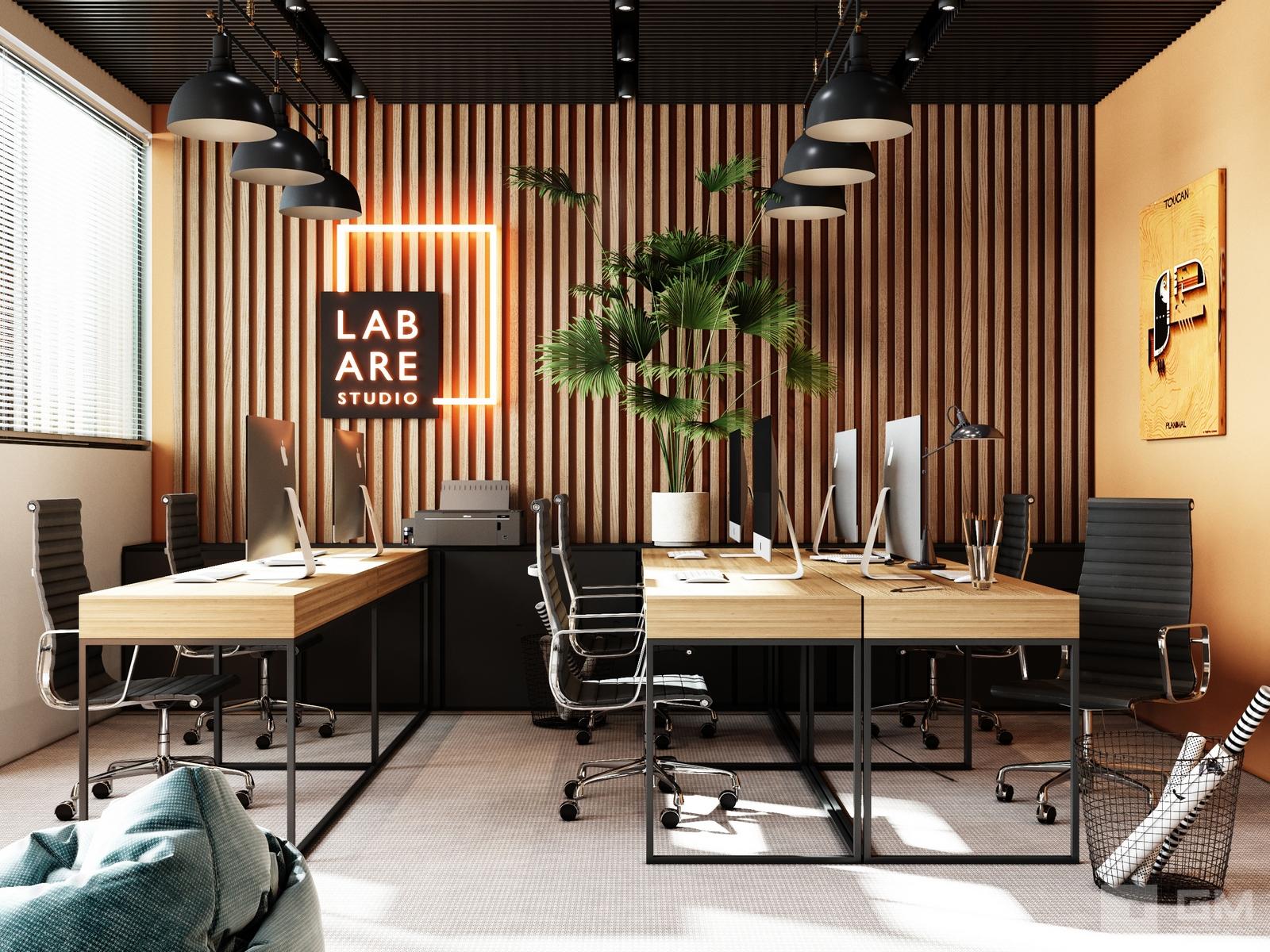 Дизайн офиса для маркетинговой компании от студии дизайна GM-INTERIOR