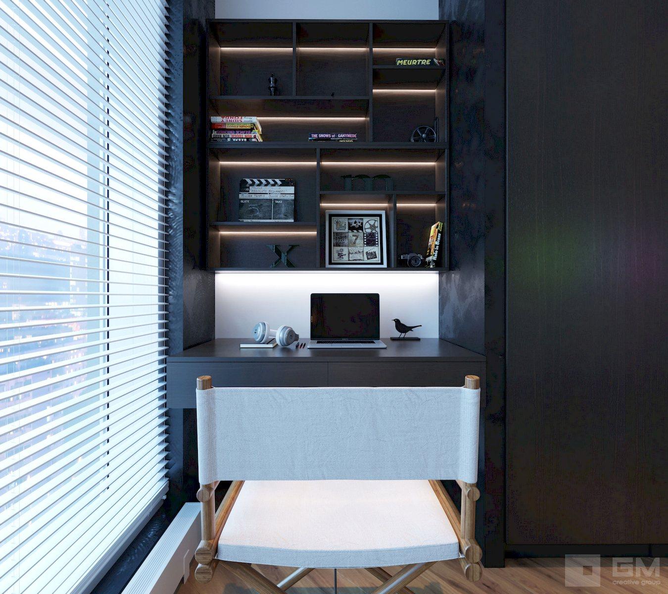 Дизайн проект квартиры студии для студента режиссерского факультета от студии дизайна GM-INTERIOR