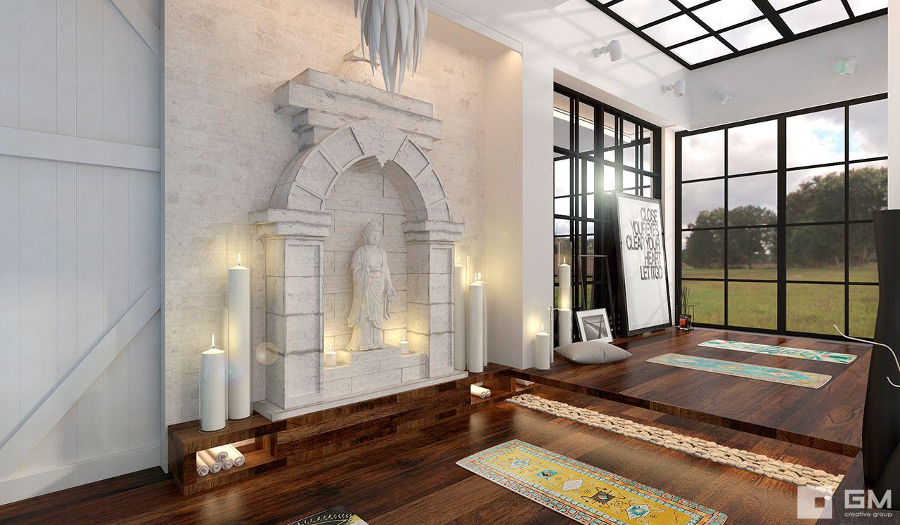 Дизайн комнаты для занятий йогой и духовными практиками