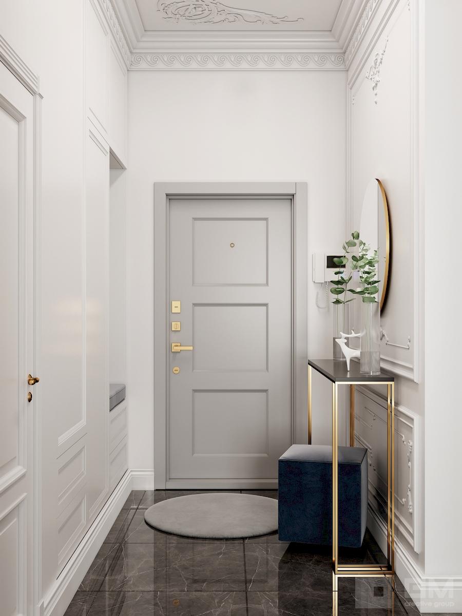 Современный интерьер в классическом обрамлении от студии дизайна GM-INTERIOR