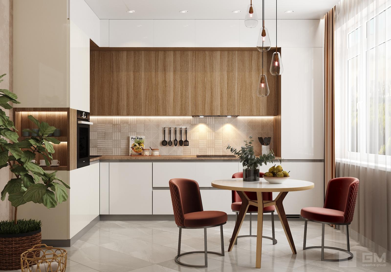 Современный интерьер с хорошо организованным бытом в ЖК Зиларт от студии дизайна GM-Interior