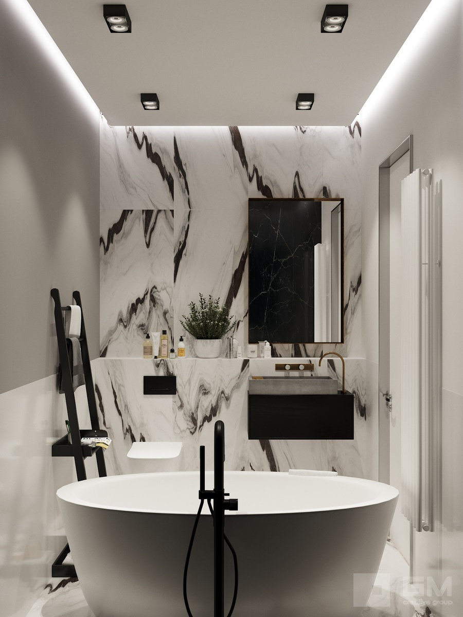 Не скучный и практичный интерьер квартиры без потери целостности пространства с удивительными эффектами от студии дизайна GM-INTERIOR