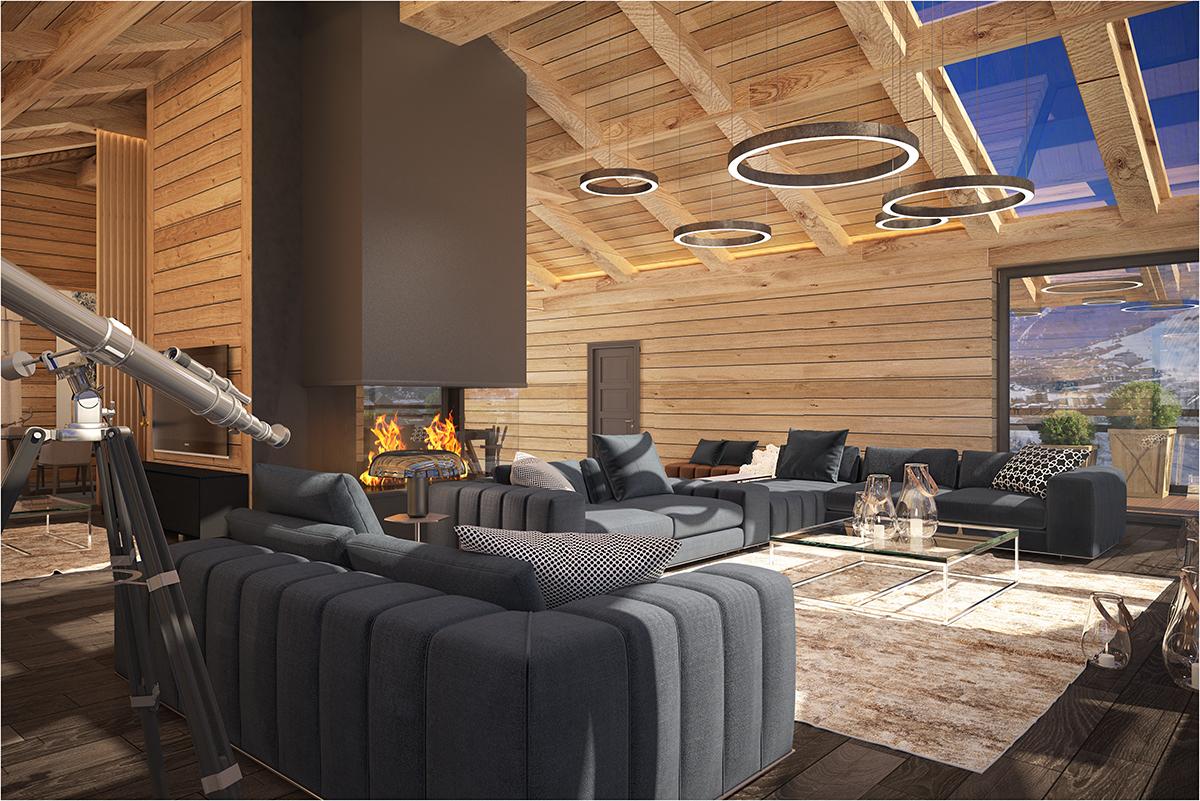 Дизайн дома в стиле шале в современном прочтении