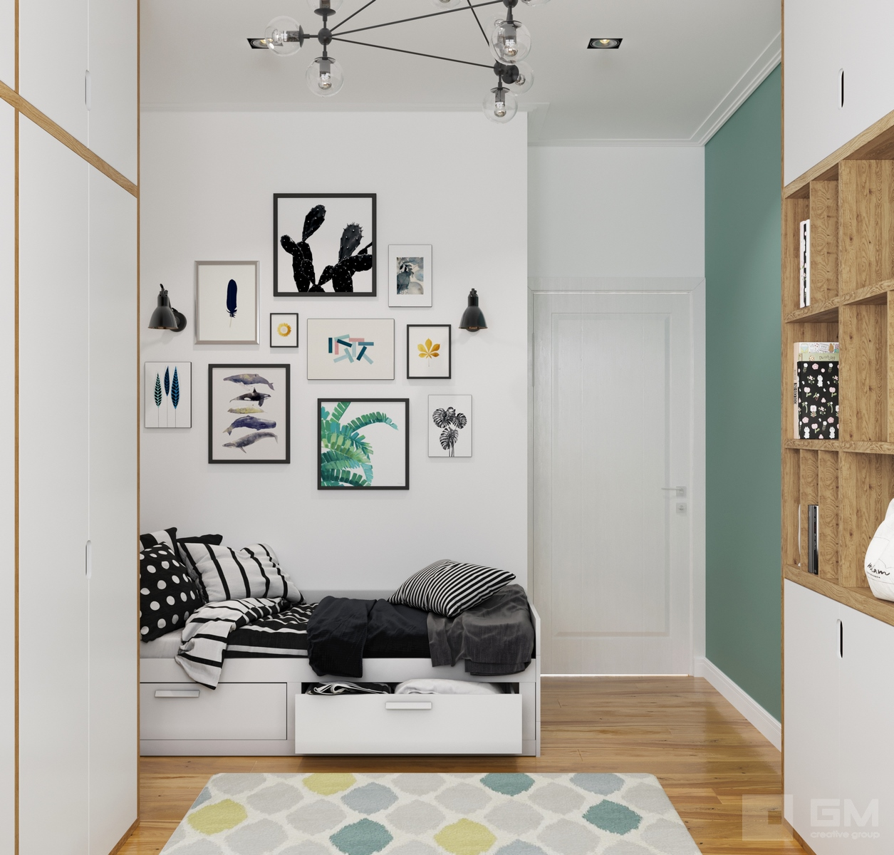 Дизайн-проект трёхкомнатной квартиры в ЖК Династия | Студия дизайна GM-Interior