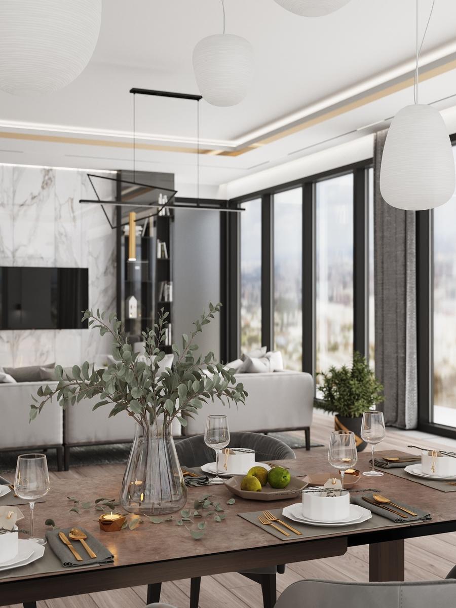 Дизайн квартиры в башне ОКО в Москва-Сити